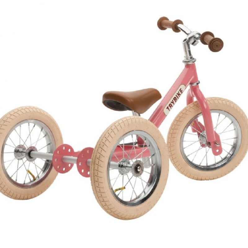 Trybike 2-in-1 Steel Vintage Pink