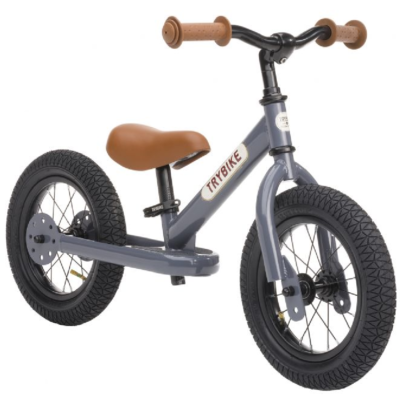 Trybike Steel Balance Bike Grey