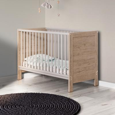 Babyhoot Grantham Mini Cot Bed Grey Oak