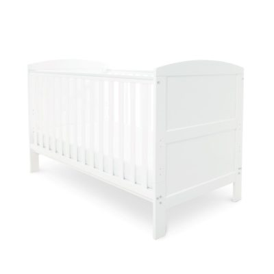 Babyhoot Coleby Cot Bed White and Foam Mattress