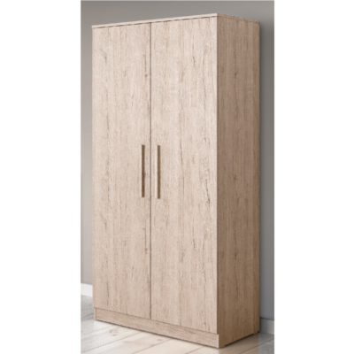 Babyhoot Grantham Double Wardrobe Grey Oak