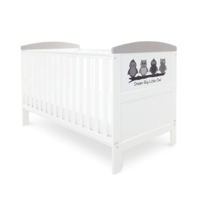 Babyhoot Style Cot Bed Dream Big Little Owl and Foam Mattress