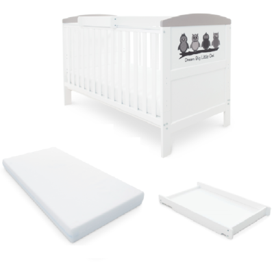 Babyhoot Style Cot Bed/Mattress/Cot Top Changer - Owl