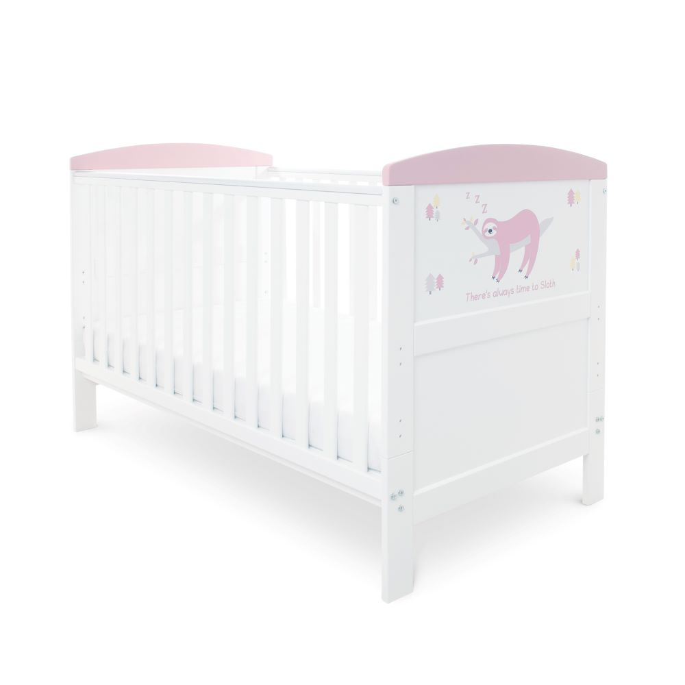 With Height Adjustable Base Little Sailor Obaby Grace Inspire Cot//Junior Bed