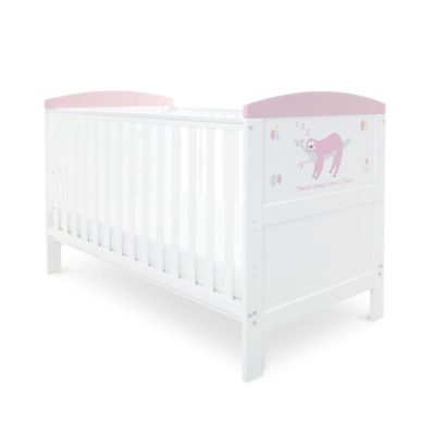 Babyhoot Style Cot Bed Sloth Pink