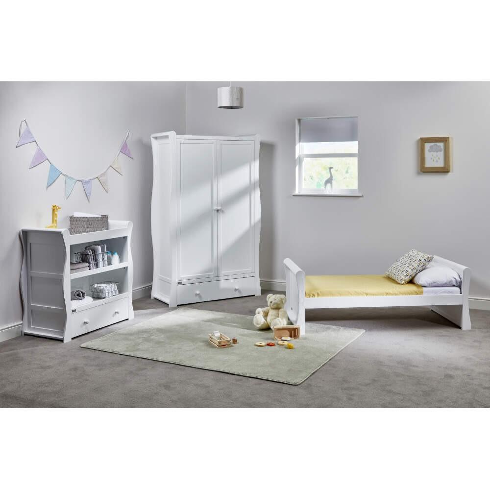 Alby Nursery Nebraska Toddler 10 Piece Bedroom Set - White