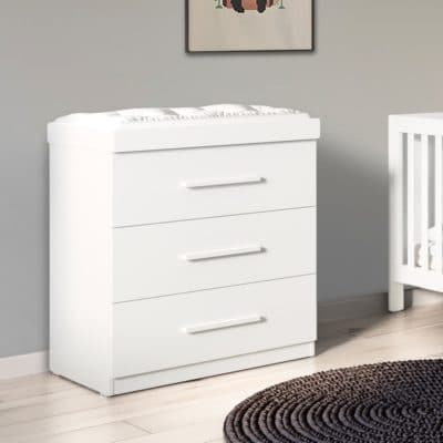 Babyhoot Grantham Chest of Drawers Brushed White