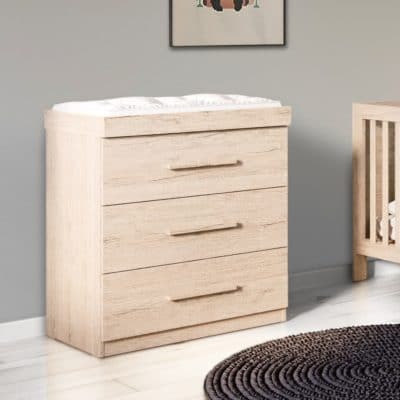Babyhoot Grantham Chest of Drawers Grey Oak