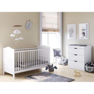 Babyhoot Upton 2 Piece Furniture Set White