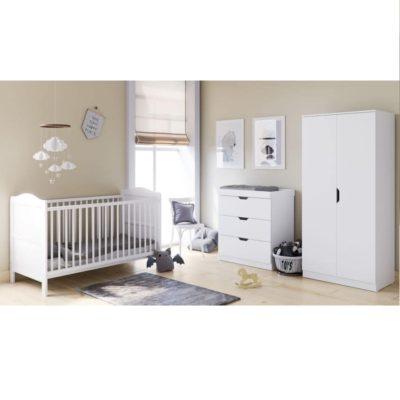 Babyhoot Upton 3 Piece Furniture Set White