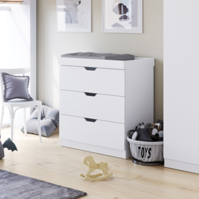 Babyhoot Upton Chest of Drawers / Changer White