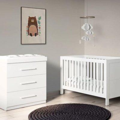 Babyhoot Grantham 2 Piece - Brushed White