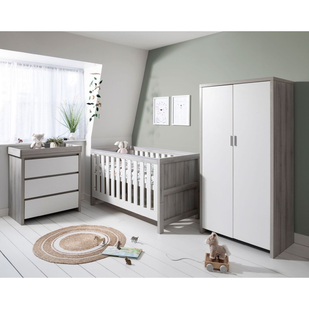 Tutti Bambini Modena 4 Piece Room Set Grey Ash White Baby And Child Store