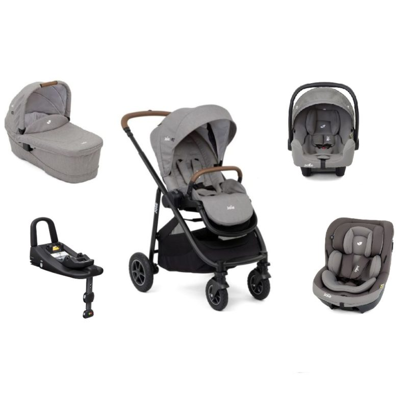 Joie Versatrax Isofix I-Size Travel System with i-Venture - Grey Flannel