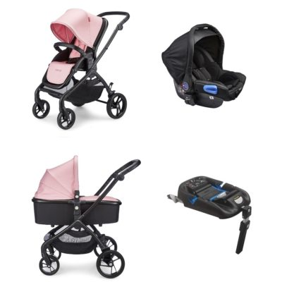 mee-go plumo rose pink isofix travel system