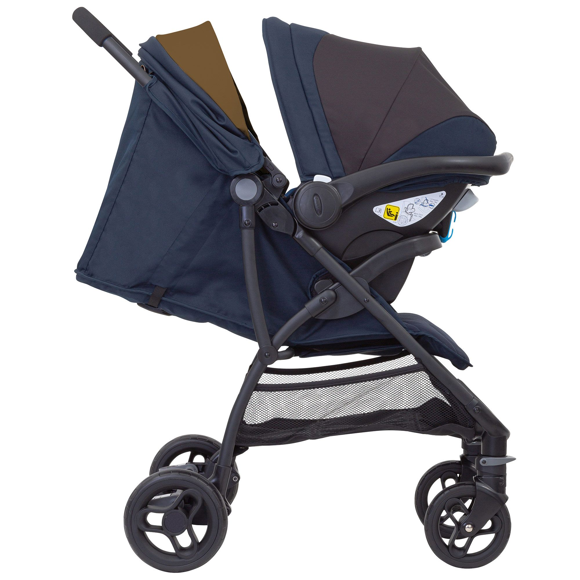 Pushchair /& Car Seat, Birth to 3 Years Approx, 0-15kg with Raincover Graco Breaze Lite i-Size Travel System Black
