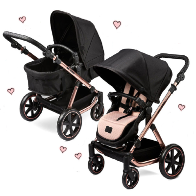 ABC Design Rose Gold Migno Doll Pram