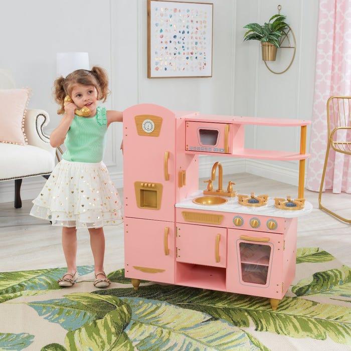 Kidkraft Pink and Gold Vintage Kitchen