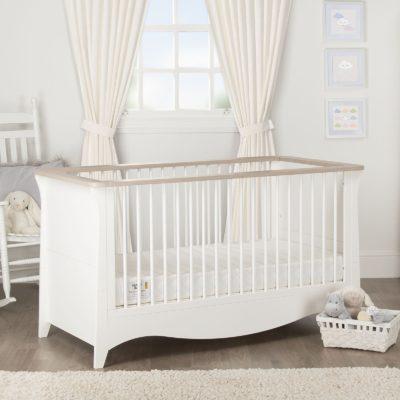 CuddleCo Clara White/Ash Cot Bed
