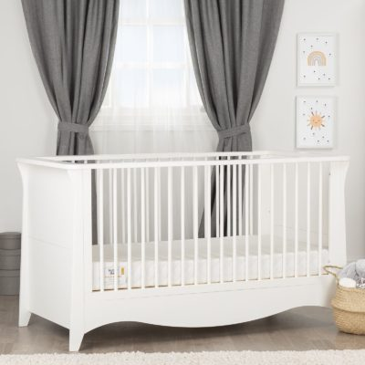 CuddleCo Clara White Cot Bed