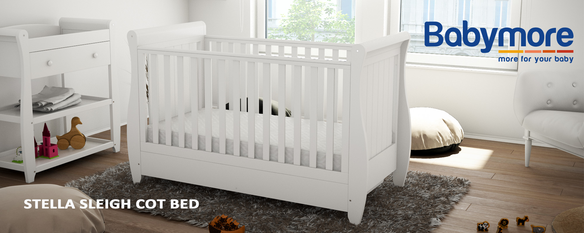 Babymore - Stella Cot Bed