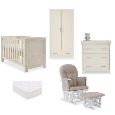 obaby nika nursery room set glider chair bundle oatmeal