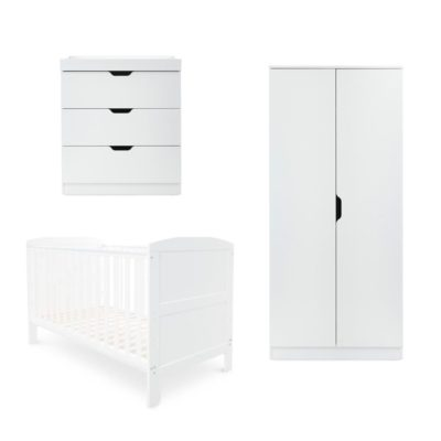 Ickle Bubba Coleby White 3 Piece Nursery Room Set