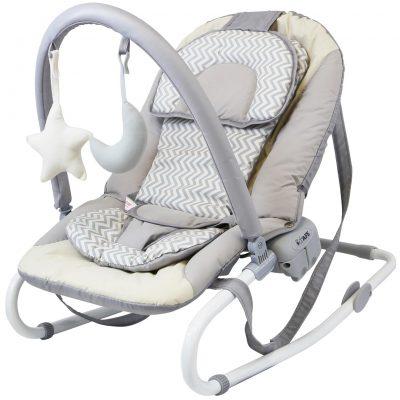 iSafe Baby Bouncer Rocker Feeding Relaxing Chair - Chevron