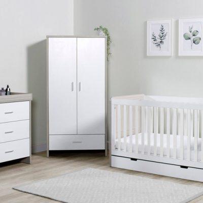 ickle-bubba-pembrey-3-piece-room set ash grey white with underdrawer