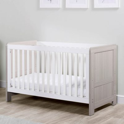 ickle bubba pembrey cot bed ash grey and white